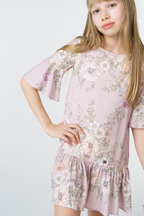 Платье для девочки BAON, цв.розовый, р-р 122 BK458002