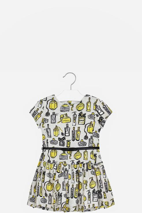 Купить 4928, Платье для девочки Mayoral, цв.желтый, р-р 128, Платья для девочек