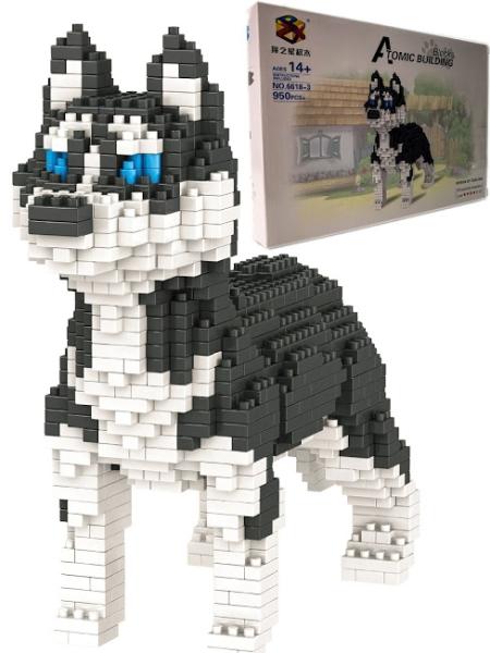 Купить Большой 3D конструктор Щенок Кинка, 650 элементов, Город Игр,