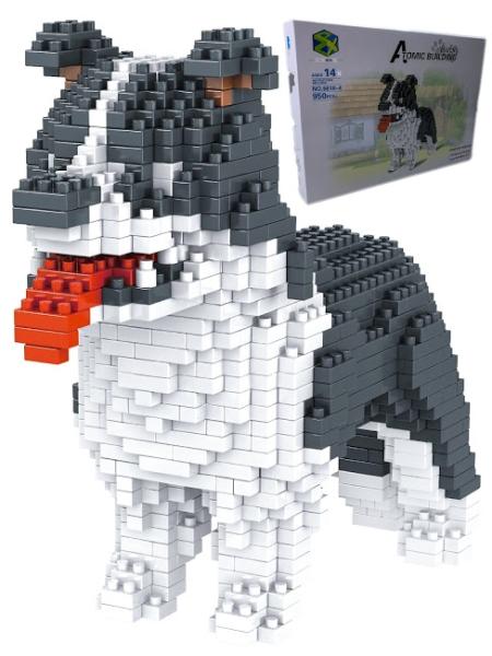 Купить Большой 3D конструктор Щенок Норд, 950 элементов, Город Игр,
