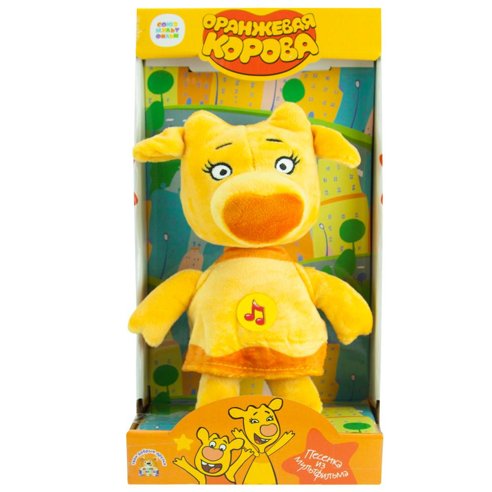 Купить Мягкая игрушка Мульти-Пульти Оранжевая корова. Зо, 22 см, муз. чип, в кор. V92729-22X,