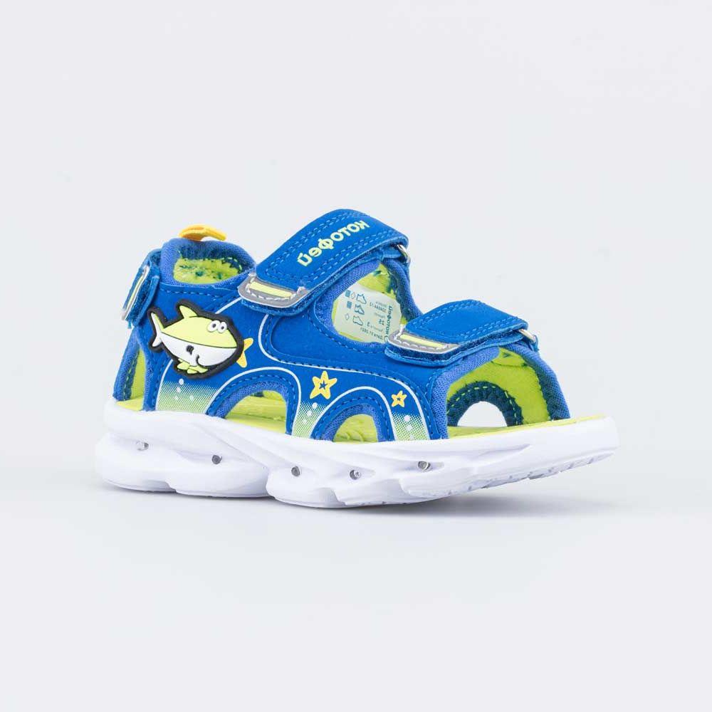 Купить Пляжная обувь для мальчиков Котофей 324044-12 синий р.26,
