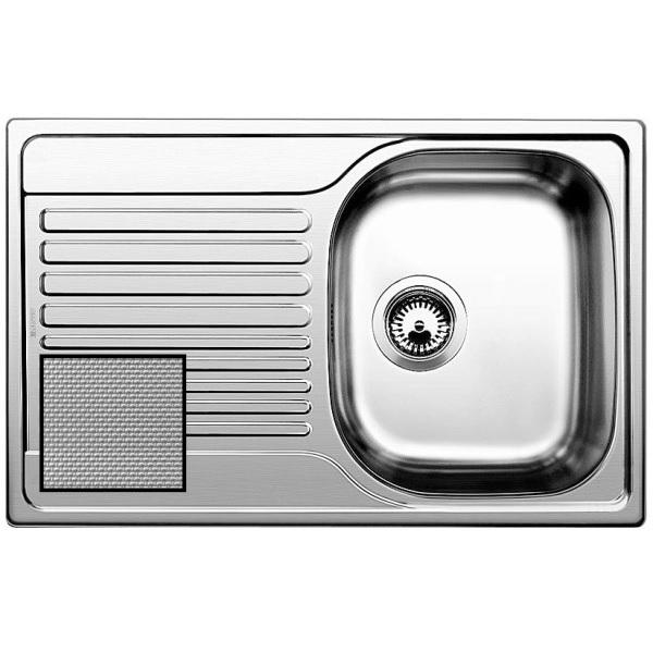 Мойка для кухни из нержавеющей стали Blanco Tipo 45 S Compact 513675 сталь с декором