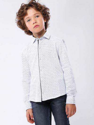 Купить 19003-430, Рубашка для мальчиков Noble People цв. белый р.128,