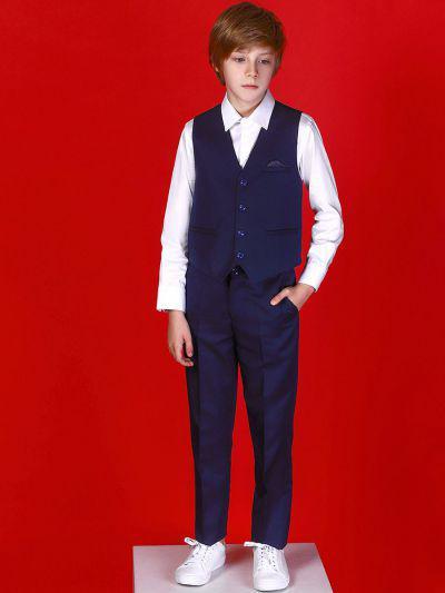 Купить 19008-106, Жилет+брюки для мальчиков Noble People цв. синий р.164,