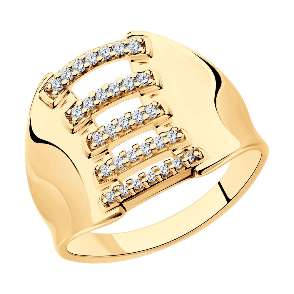 Кольцо женское SOKOLOV 93010893 из серебра, фианит, р.17.5