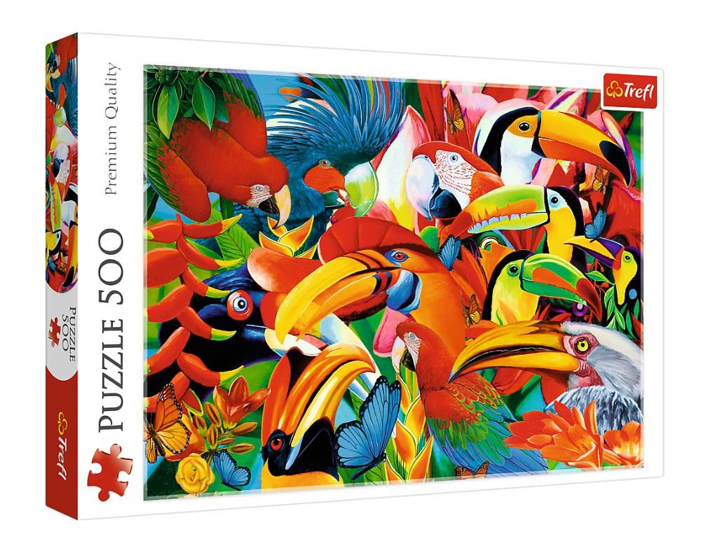 Купить Пазл Trefl Цветные птицы, 500 эл. 37328,