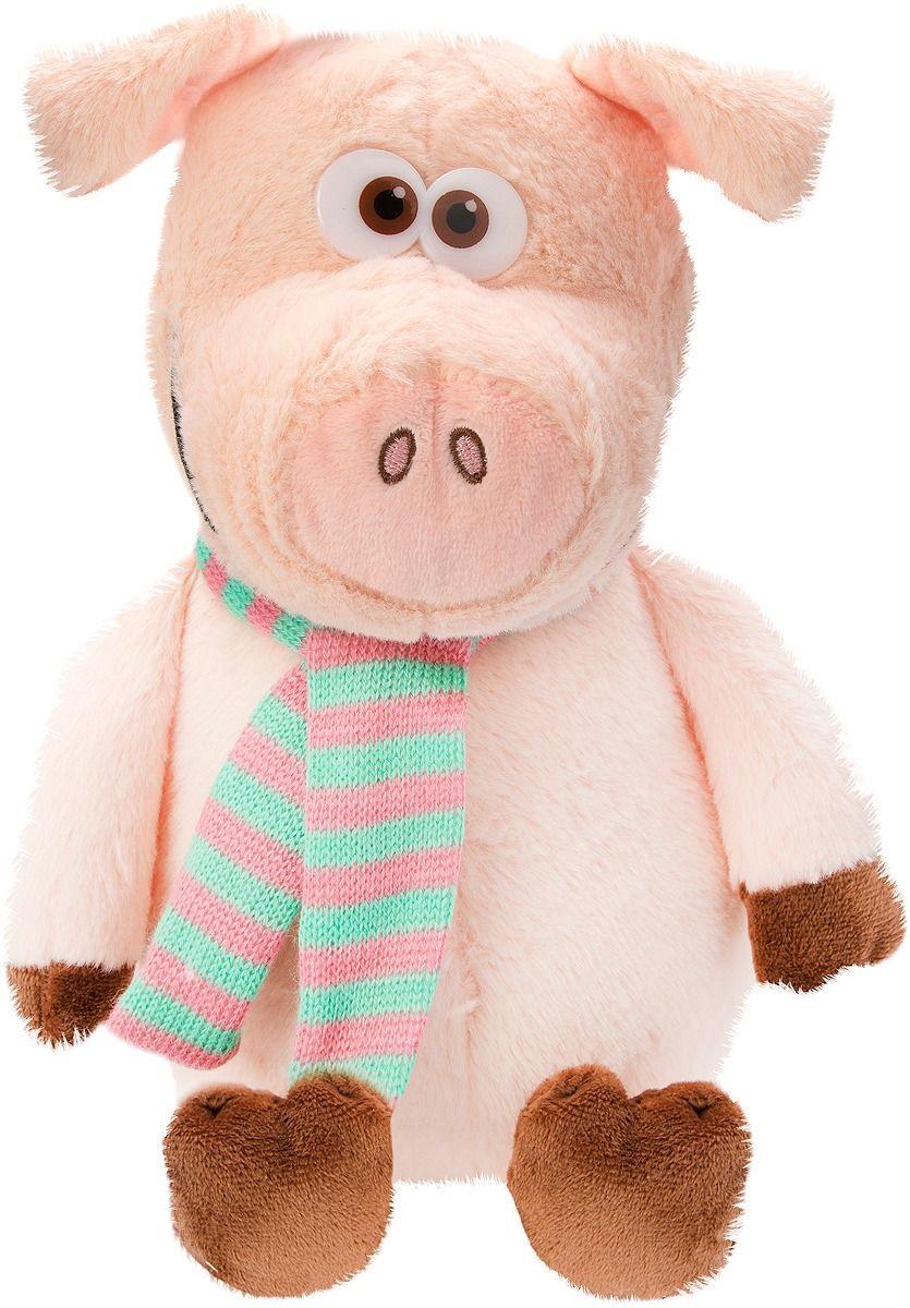 Купить Мягкая игрушка Fluffy Family Свинтус, с шарфом, 24 см 681538,