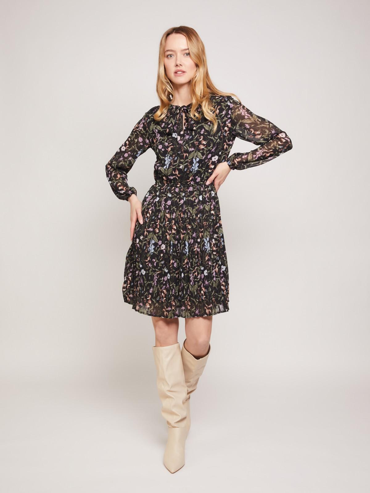 Платье женское Zolla 02133824Y06399P0 черное XL