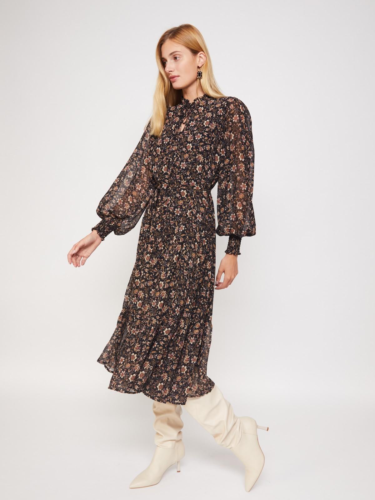 Платье женское Zolla 02134824Y02199P0 черное XXL