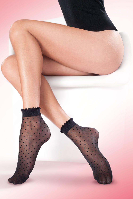 Капроновые носки женские Gabriella 616 Puntina черные One size