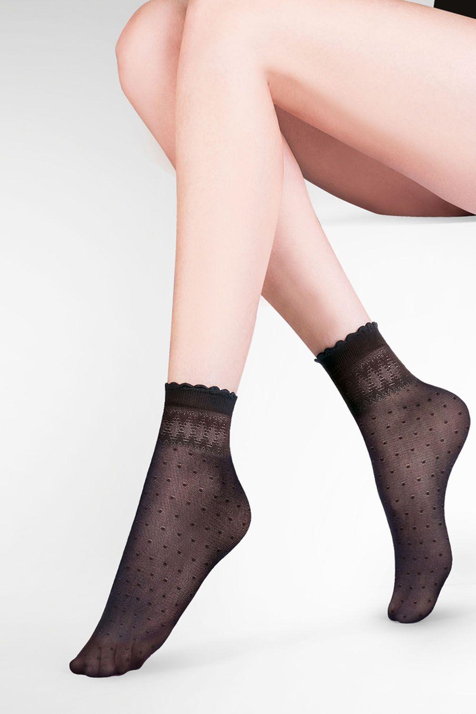 Капроновые носки женские Gabriella 695 Pia черные One size