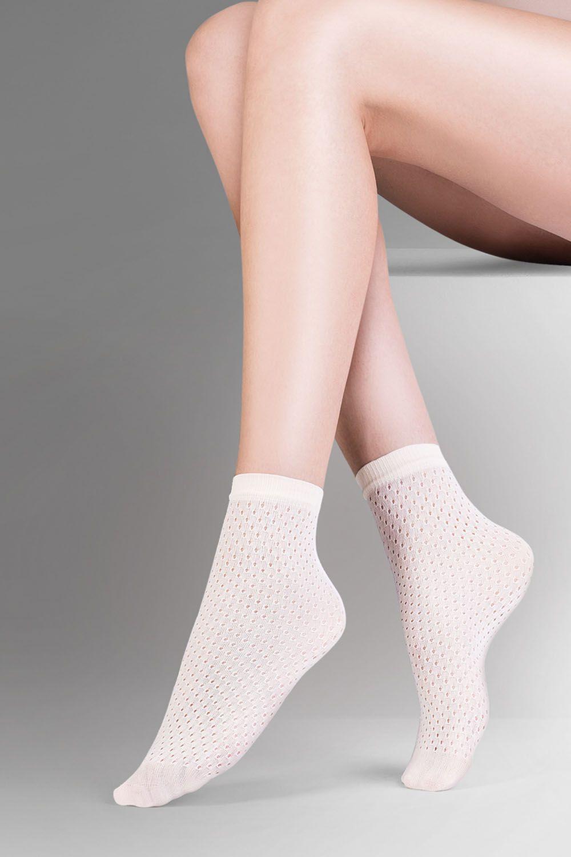 Капроновые носки женские Gabriella 694 Mia белые One size