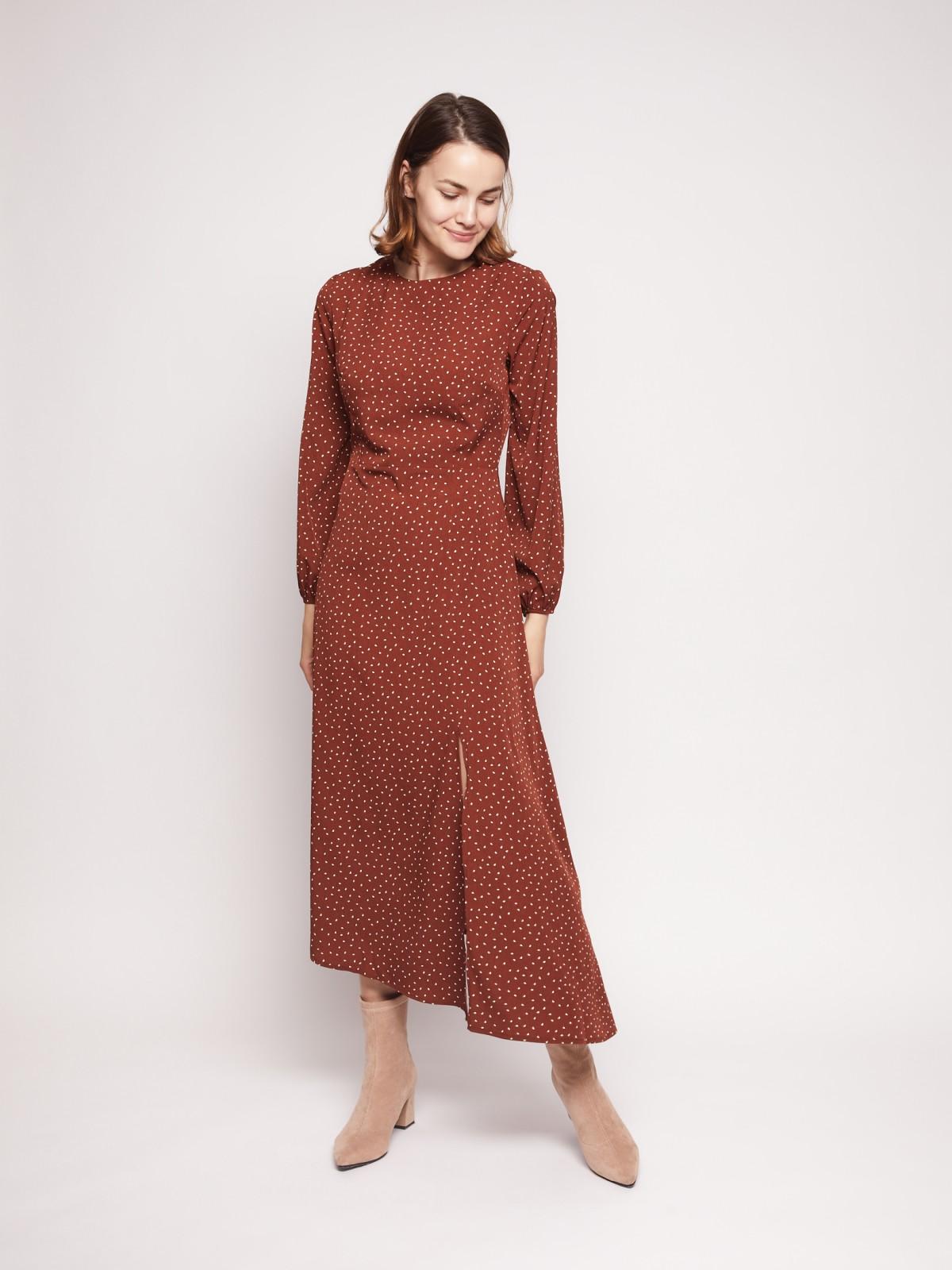 Платье женское Zolla 02133824018380P0 коричневое XXL