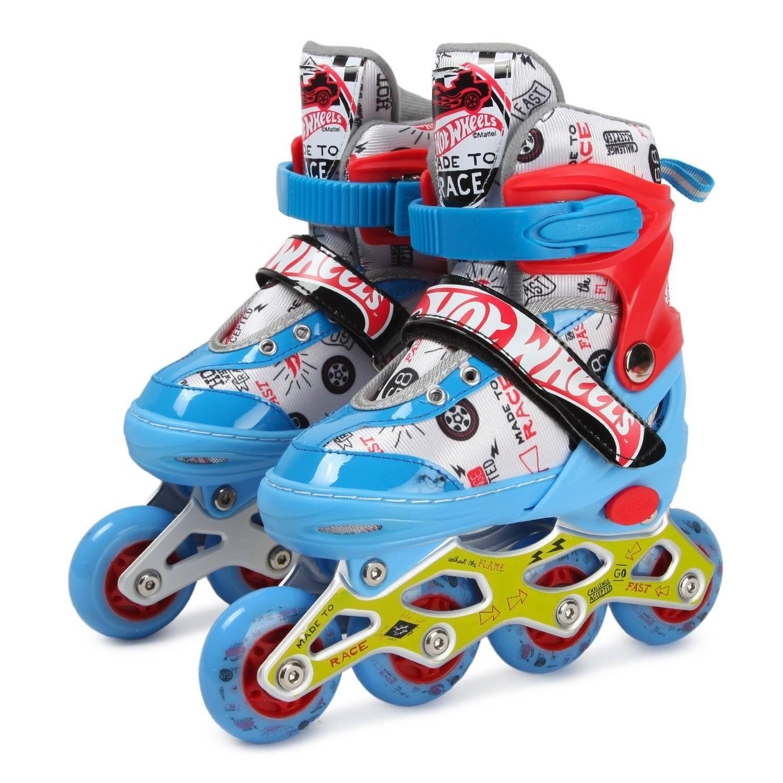 1toy Коньки роликовые Hot Wheels, колеса со светом, M (34-37) Т20205