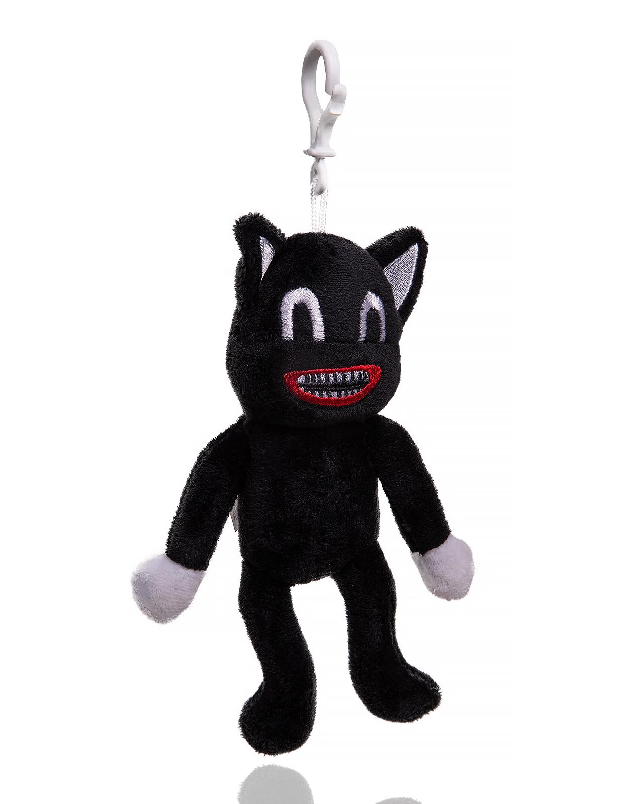 Купить Мягкая игрушка монстр Siren Head Cartoon Cat Кот черный с карабином, 20 см, wellywell,