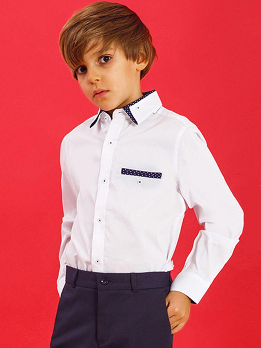 Купить 2020A03, Рубашка для мальчиков Noble People цв. белый р.134,