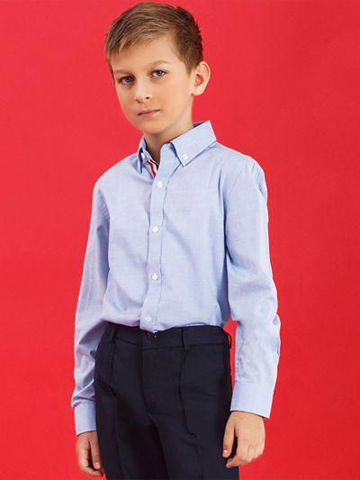 Купить 2020A07, Рубашка для мальчиков Noble People цв. голубой р.122,