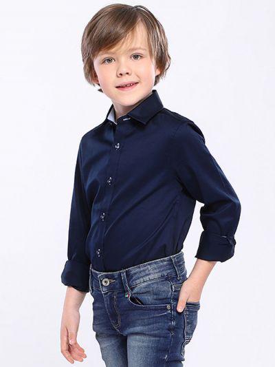 Купить 2020A12, Рубашка для мальчиков Noble People цв. синий р.140,
