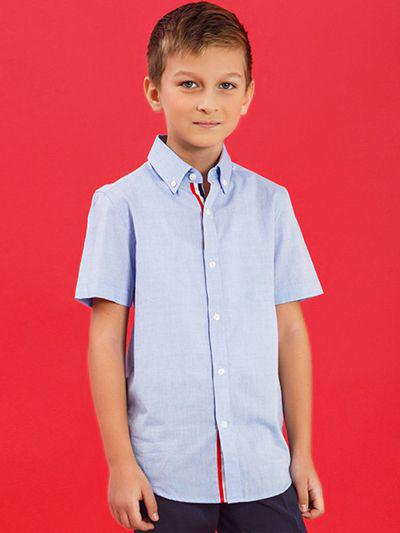 Купить 2020A25, Рубашка для мальчиков Noble People цв. голубой р.134,