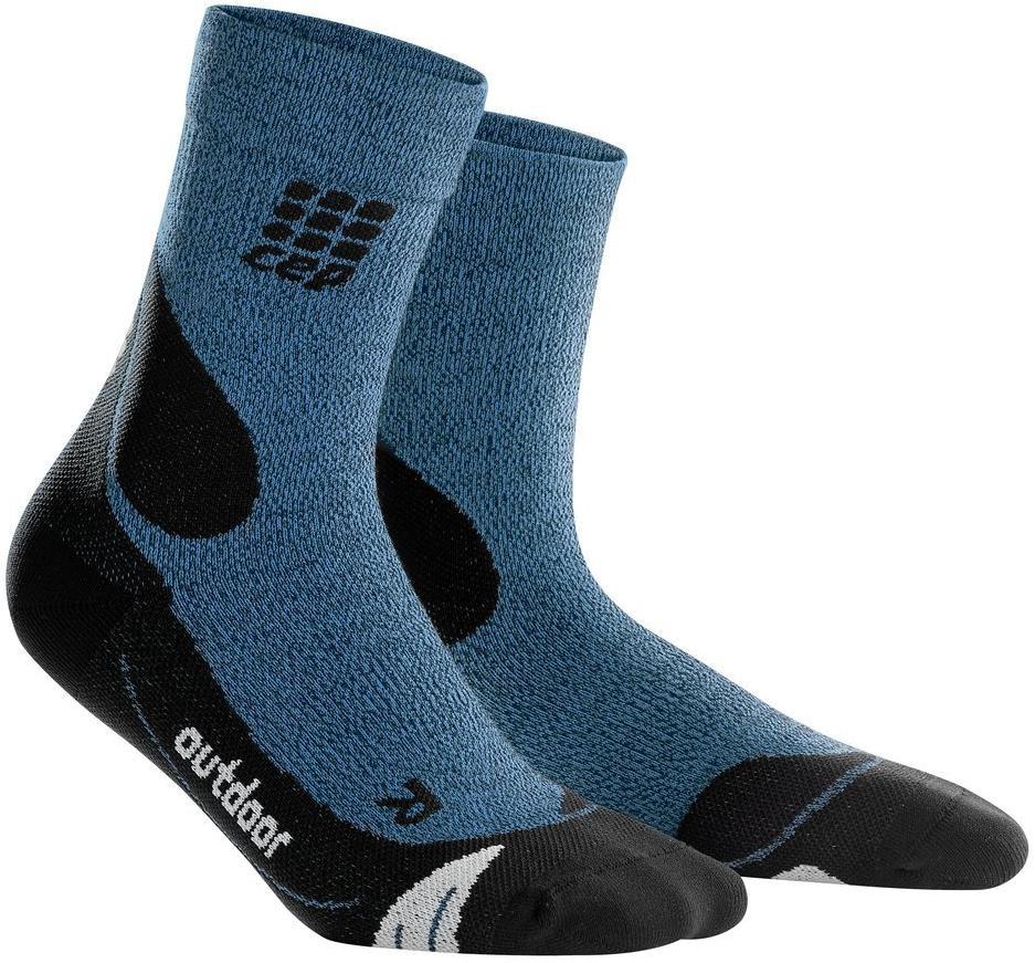 Носки CEP C05W Outdoor Merino Mid синие; черные S-M