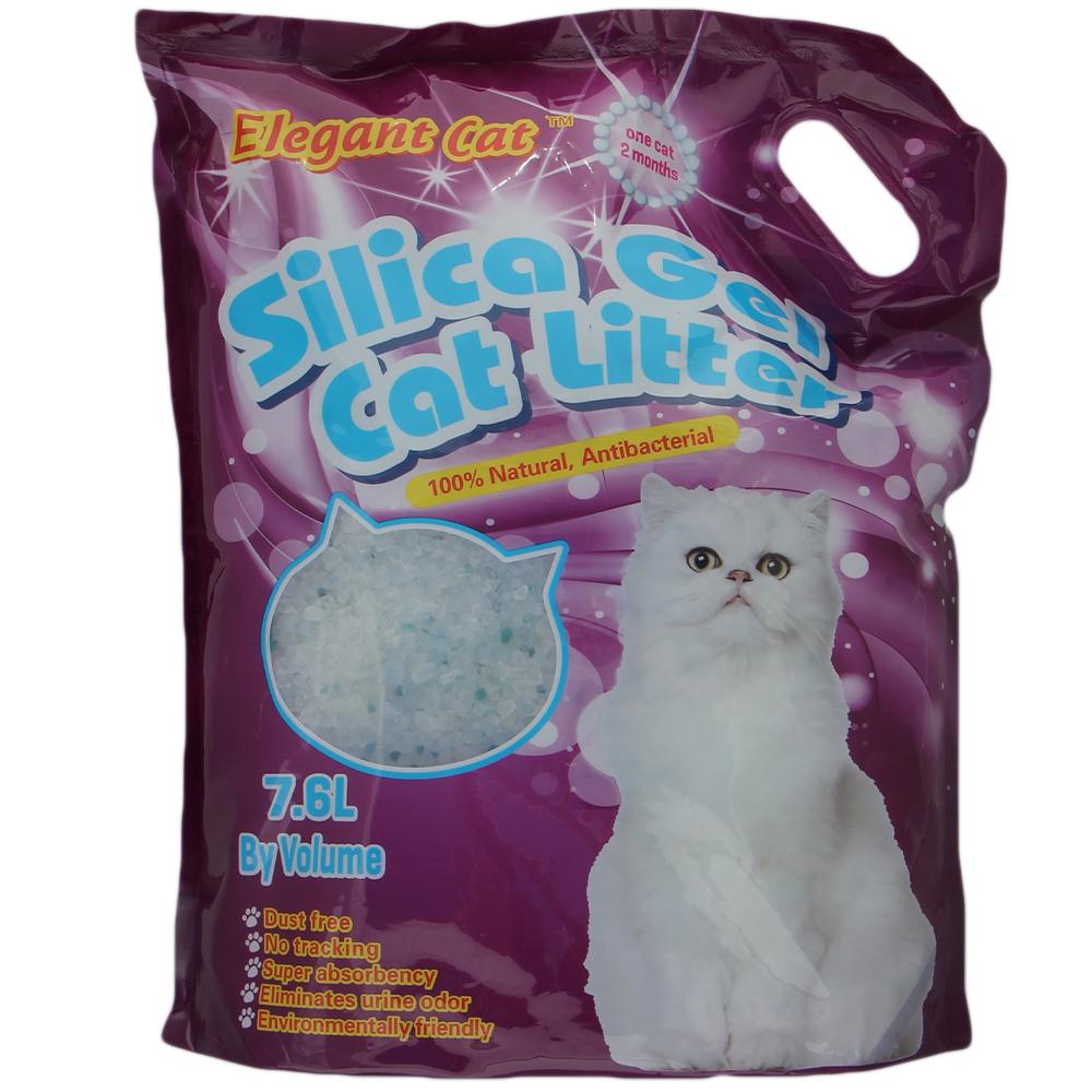 Впитывающий наполнитель для кошек Elegant Cat силикагелевый,