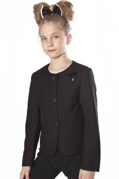 Пиджак для девочек Noble People цв. черный р.122