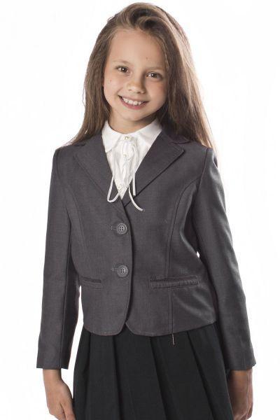 Купить 28614-41, Жакет для девочек Noble People цв. серый р.140,