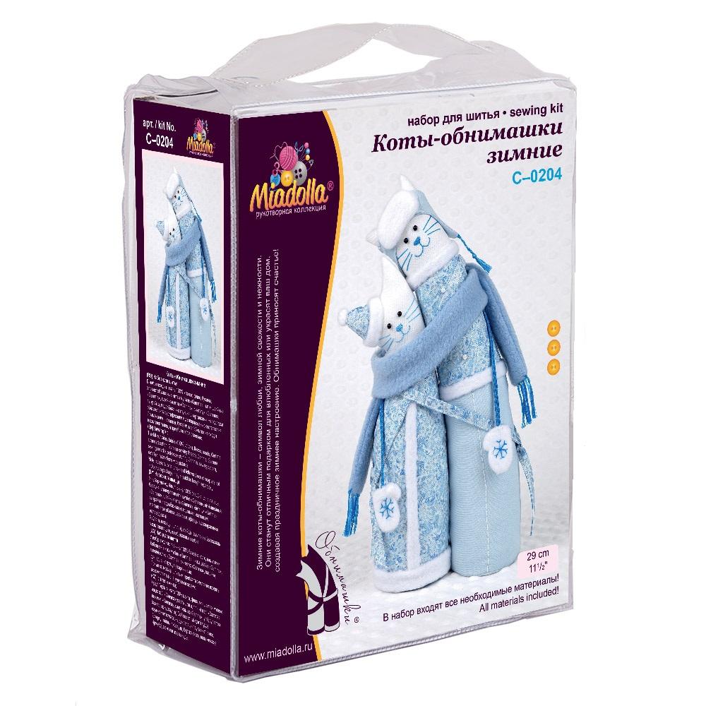 Купить Наборы для изготовления игрушки Miadolla Коты-обнимашки зимние, арт: C-0204,