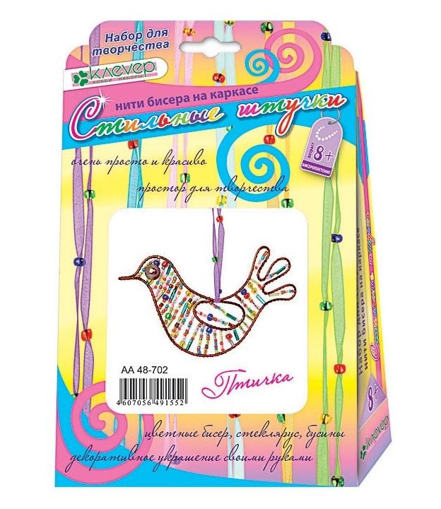 Купить Набор для изготовления фигурки из бисера Птичка, Clever,