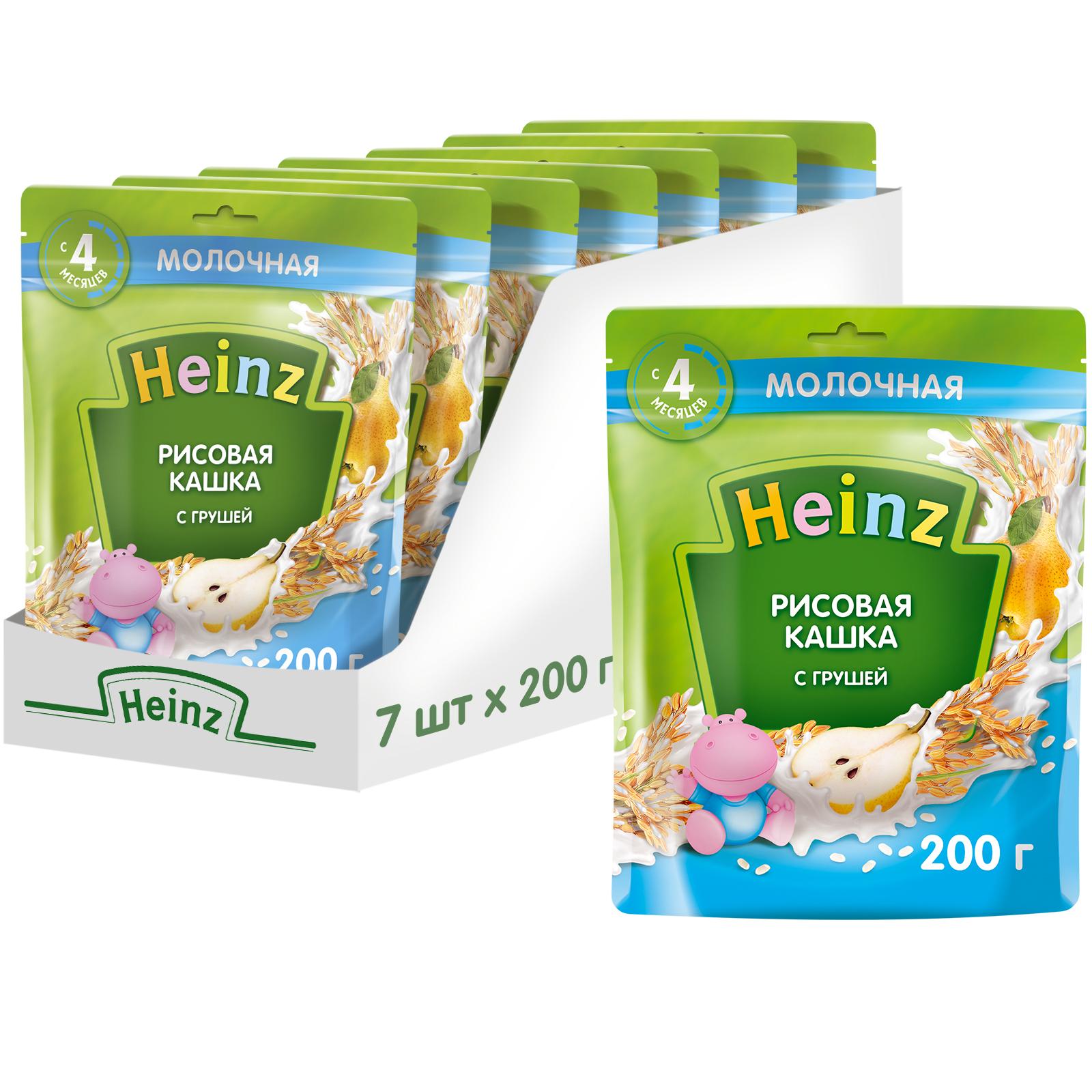 Каша молочная Heinz Рисовая с грушей
