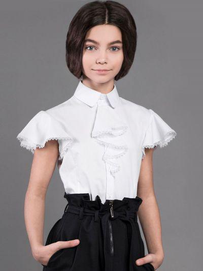Купить 29503-376/20, Блуза для девочек Noble People цв. белый р.146,