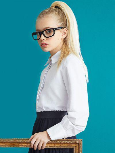Купить 29503-397, Блуза для девочек Noble People цв. белый р.134,
