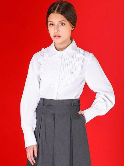 29503-398, Блуза для девочек Noble People цв. белый р.152,  - купить со скидкой