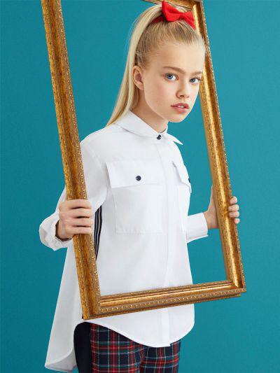 Купить 29503-404, Блуза для девочек Noble People цв. белый р.122,