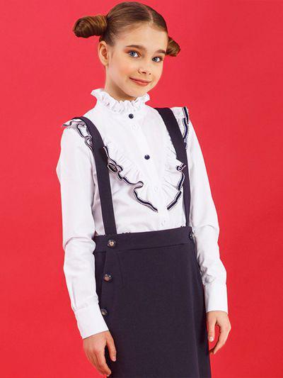 Купить 29503-406, Блуза для девочек Noble People цв. белый р.122,