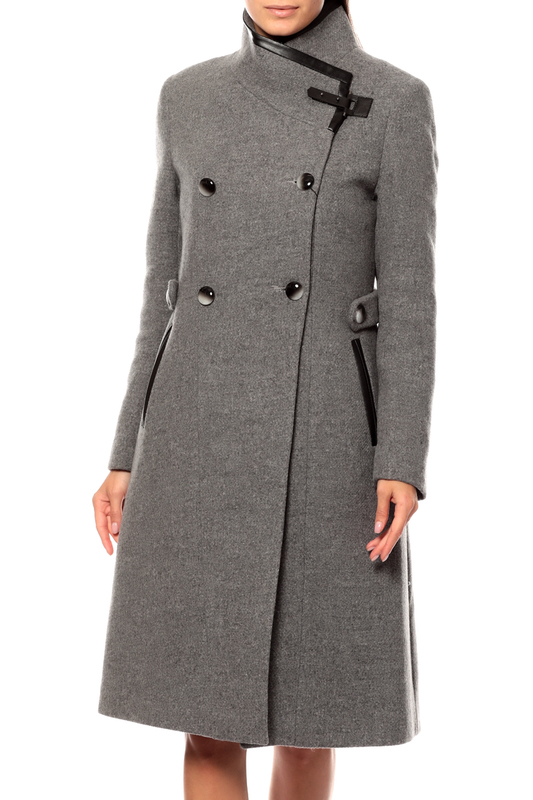 Пальто-шинель женское Style National 1483 Р231 серое 44