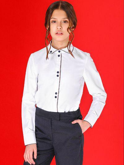 Купить 29503-418, Блуза для девочек Noble People цв. белый р.128,