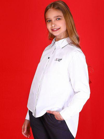Купить 29503-435, Блуза для девочек Noble People цв. белый р.128,