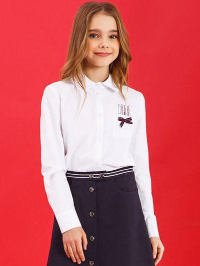 Купить 29503-439, Блуза для девочек Noble People цв. белый р.140,