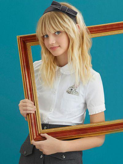 Купить 29503-440, Блуза для девочек Noble People цв. белый р.146,