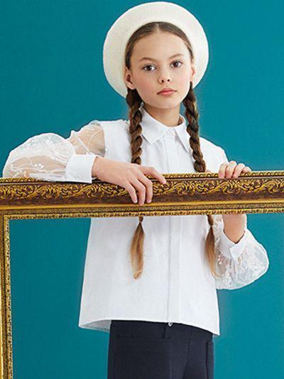 Купить 29503-446, Блуза для девочек Noble People цв. белый р.152,