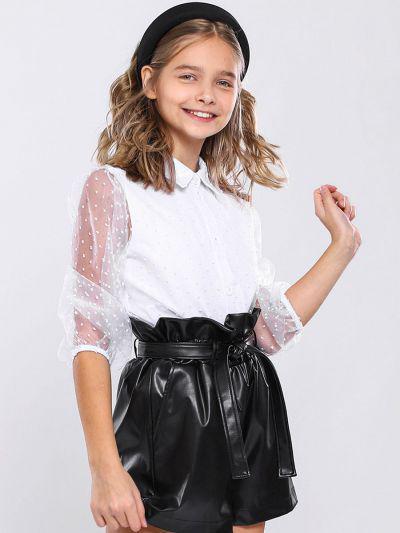Купить 29503-447, Блуза для девочек Noble People цв. белый р.128,