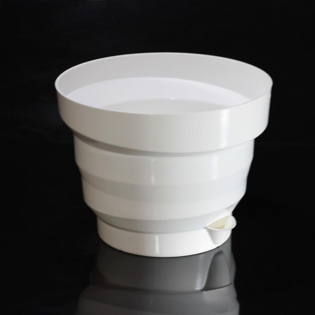Горшок Акцент, 1.6 л (Цвет: Белый