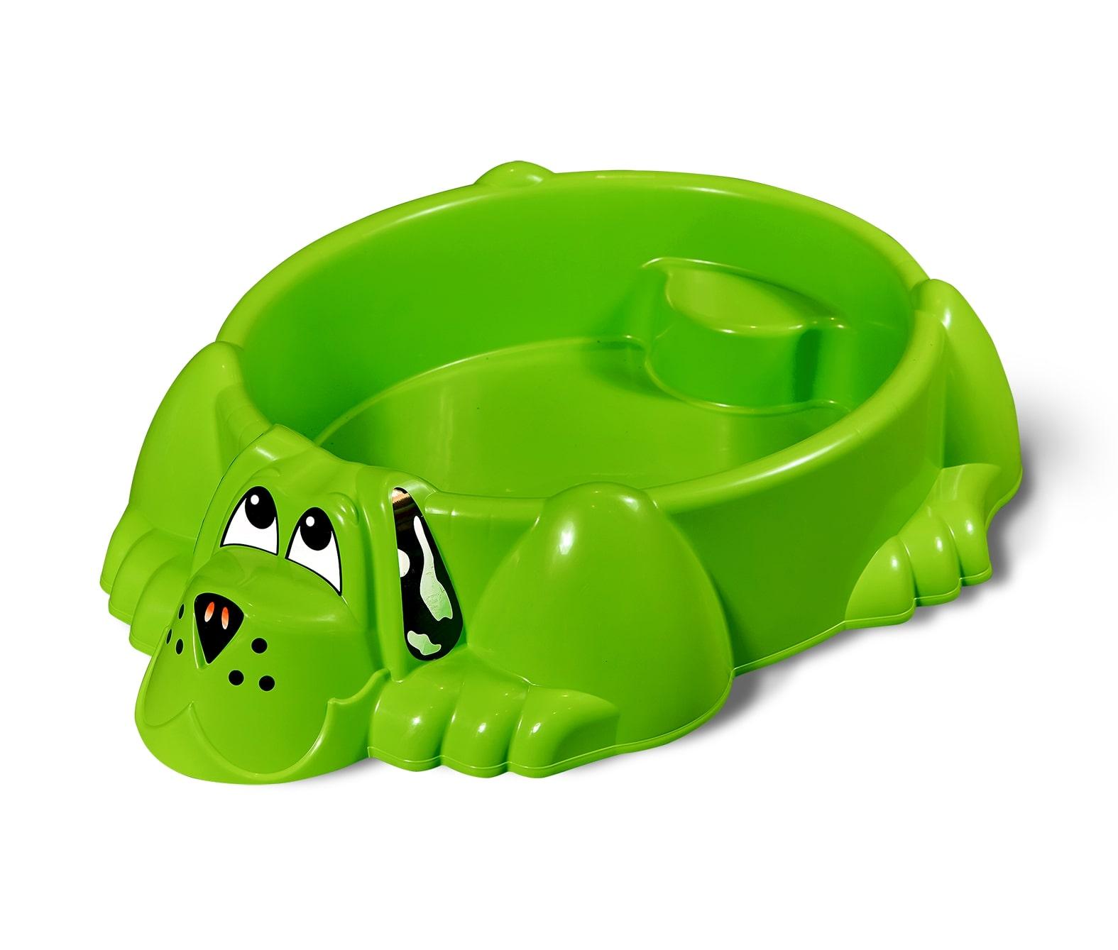 Детская пластиковая песочница мини-бассейн Собачка PalPlay 373 (Зеленая)