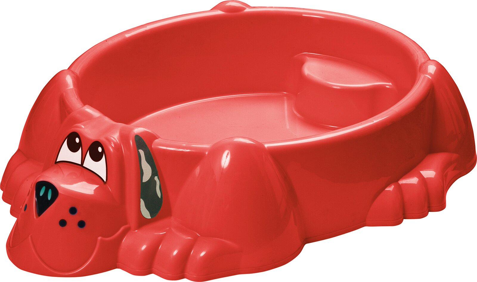 Детская пластиковая песочница мини-бассейн Собачка PalPlay 373 (красный)