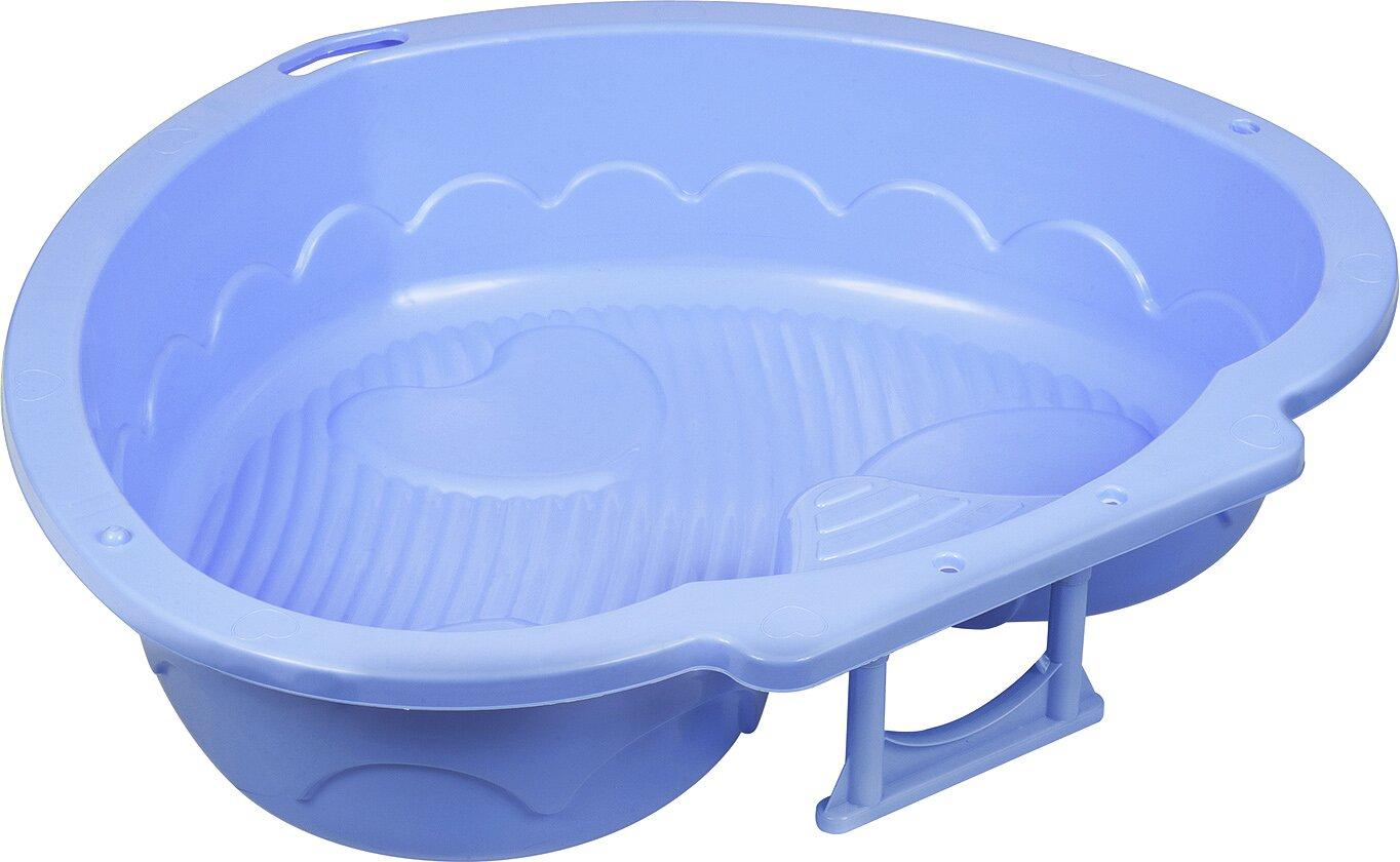 Детская пластиковая песочница мини-бассейн Сердечко PalPlay 434 (голубой)