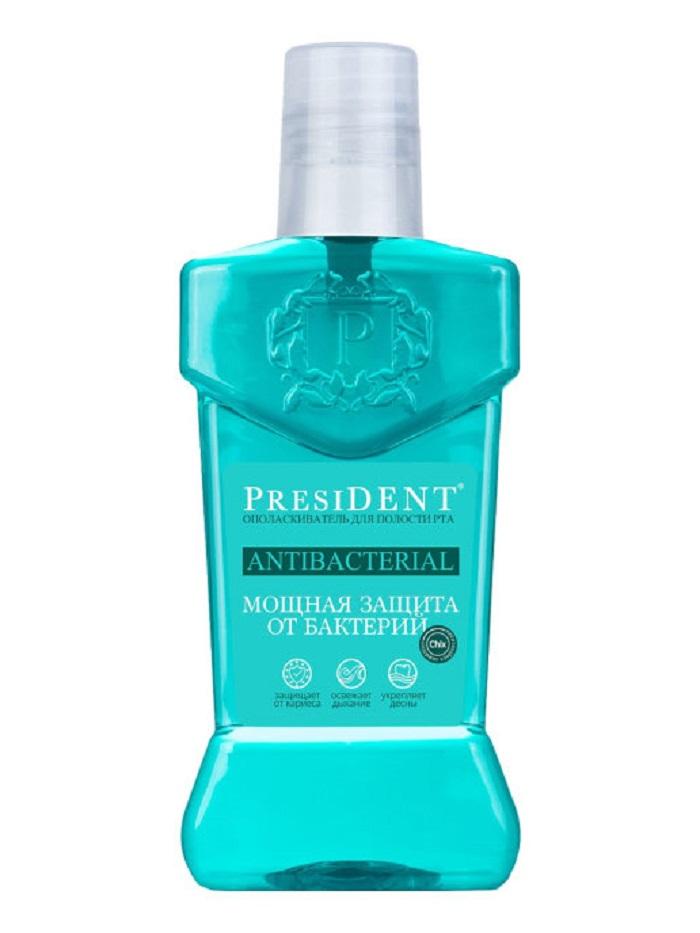 Ополаскиватель для рта President AntibacterialМощная защита 250мл  - Купить