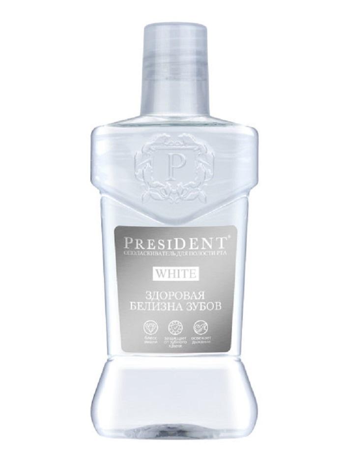 Купить Ополаскиватель для рта President White Здоровая белизна 250мл