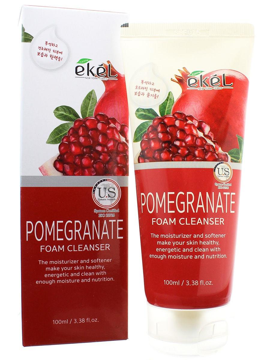 Купить Пенка для умывания EKEL с экстрактом граната Foam Cleanser Pomegranate 100 мл